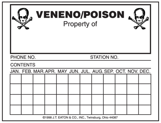 Picture of Eaton Mouse Poison Label (100 count)
