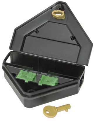 Picture of Gold Key Mouse Depot Plastic Tamper-Resistant Mini Bait Station (12 count)