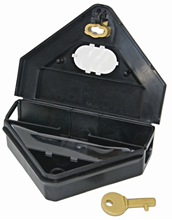 Picture of Gold Key Mouse Depot Plastic Tamper-Resistant Mini Bait Station w/Clear Window (12 count)