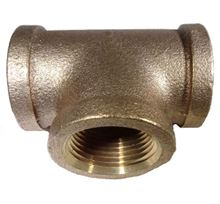 Picture of Couplings Company 101F Female Pipe Tee - Brass - 1/2 in.