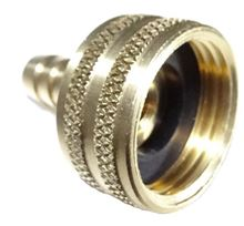 Picture of Couplings Company 620CJ Hose Barb x Female Garden Hose Swivel Nut - 1/4 in. x 3/4 in.