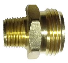 Picture of Couplings Company 748JJF Male Garden Hose x Male Pipe - 3/4 in. x 3/4 in. x 1/2 in.