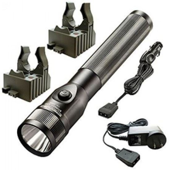 Picture of Streamlight SL-20X Rechargeable Flashlight with 120V AC and 12V DC Chargers, 2 Sleeves (Black)