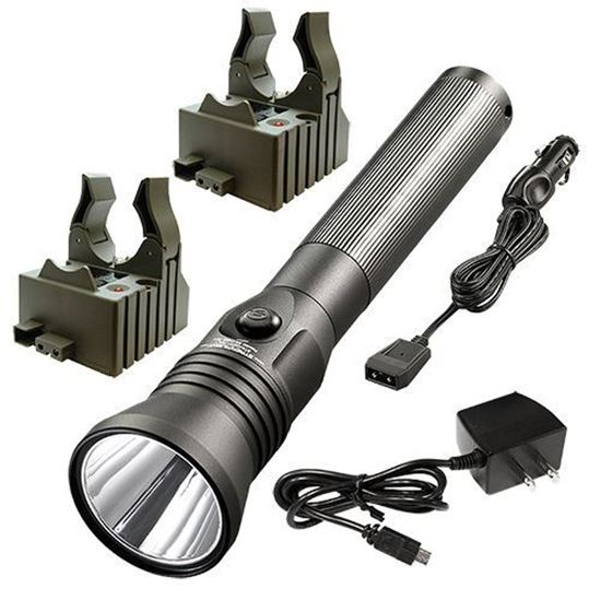 Picture of Streamlight Stinger LED HPL with 120V AC/12V DC Chargers