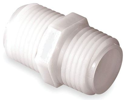 Picture of A&M Industries GPN12 Nylon Nipple MGHT x MPT - 3/4 in. x 3/4 in.