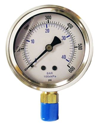 Picture of PIC Gauge PRO-201L254K Glycerin Filled Pressure Gauge - 0- 600 psi