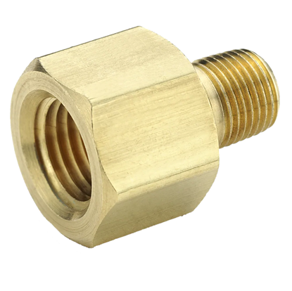 Picture of Parker 222P-6-4 Brass Pipe Fitting - 3/8 FNPT x 1/4 MNPT